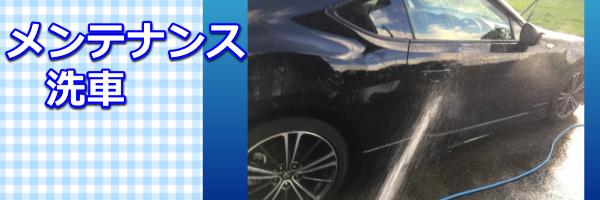 メンテナンス洗車